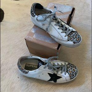 Golden Goose superstar white-leopard glitter